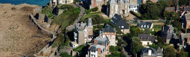 The elegant seaside town of Dinard